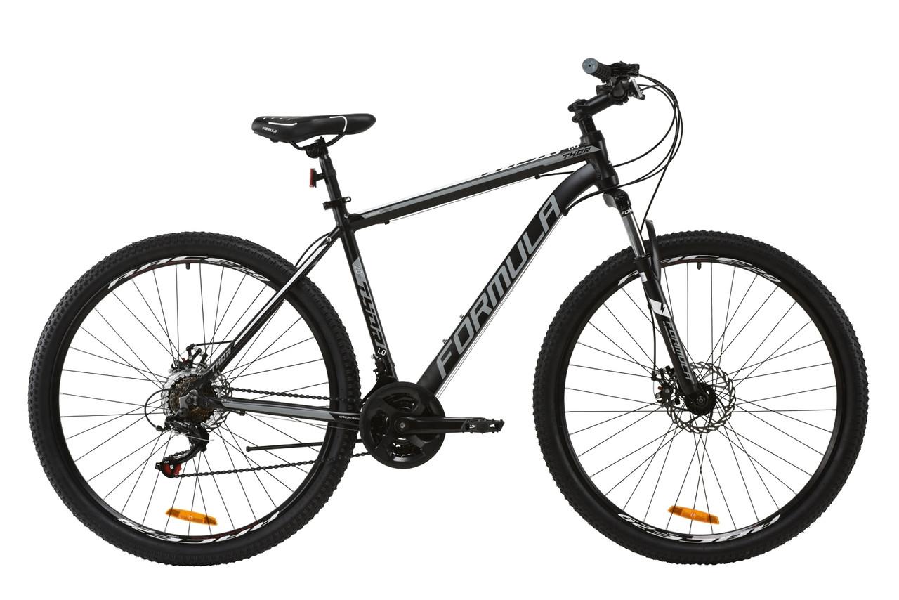 """Велосипед 29"""" Formula THOR 1.0 2020 (чорно-сірий з білим (м))"""