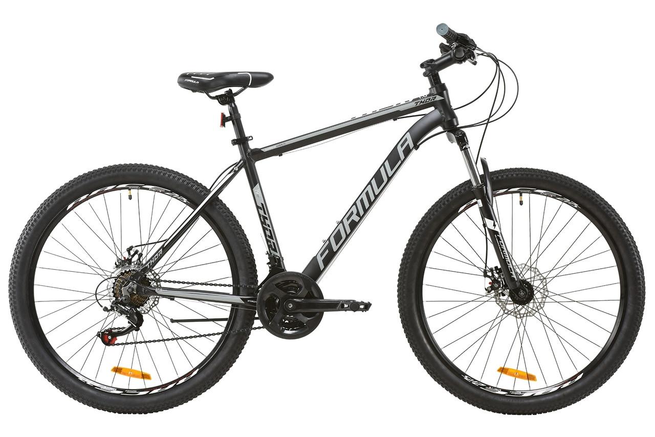 """Велосипед 27.5"""" Formula THOR 1.0 2020 (чорно-сірий з білим (м))"""