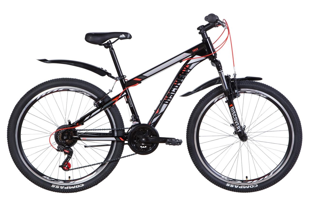 """Велосипед 26"""" Discovery TREK 2021 (чорно-червоний)"""
