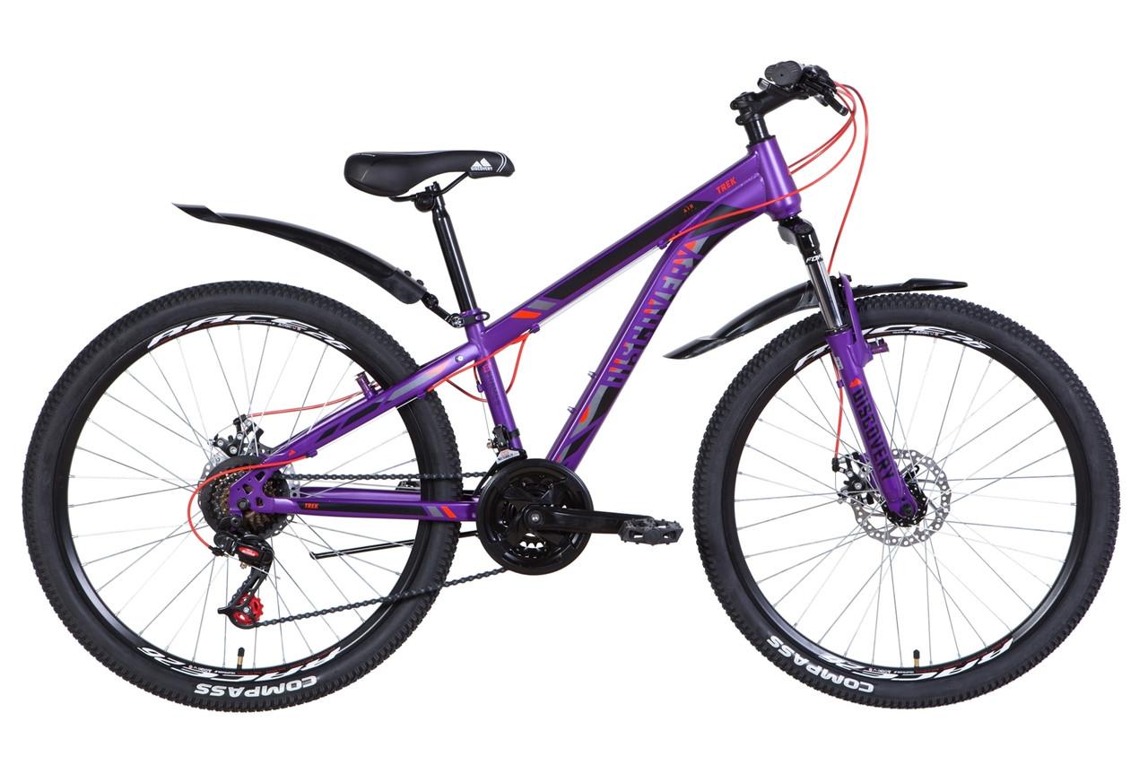 """Велосипед 26"""" Discovery TREK DD 2021 (чорно-червоний)"""