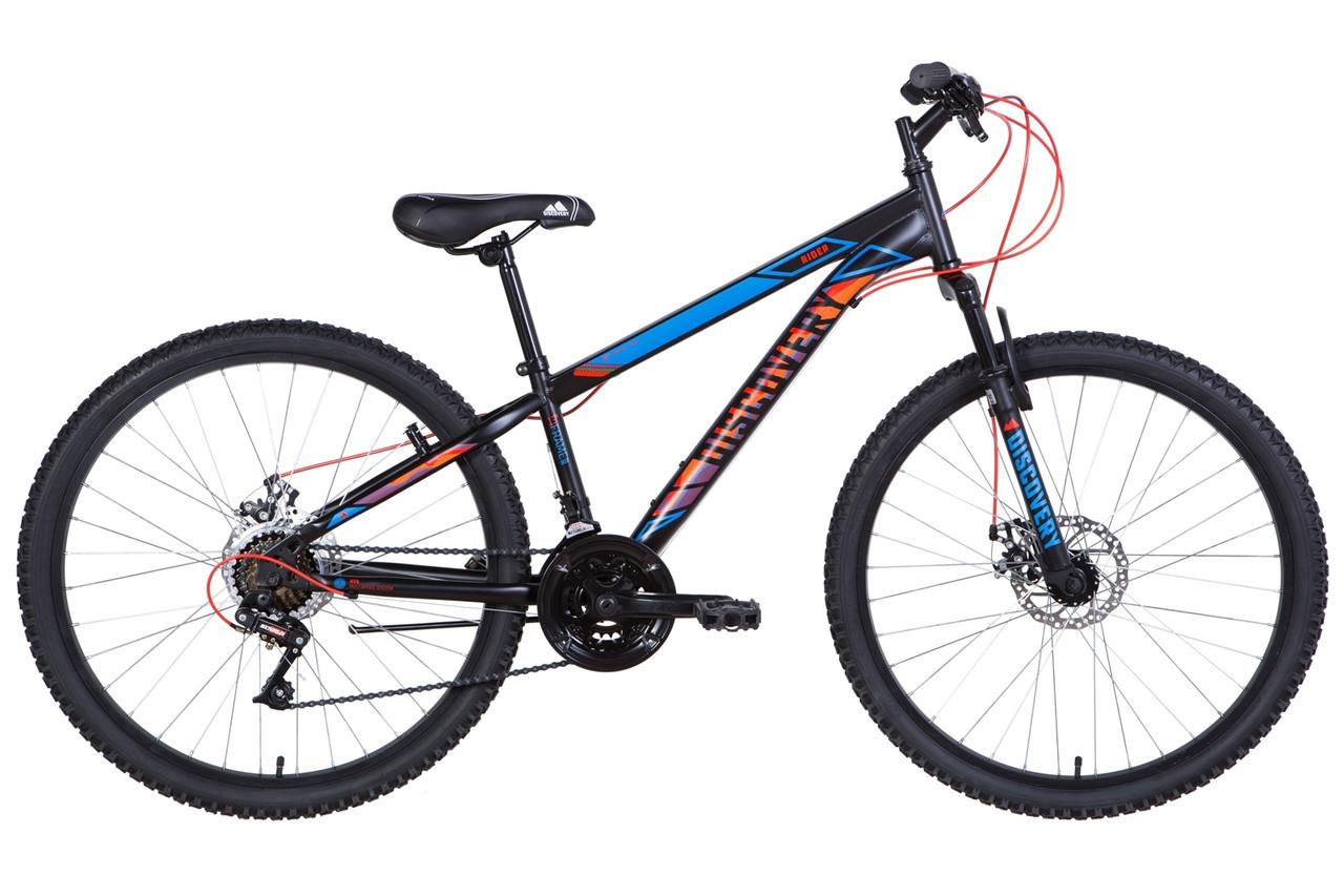 """Велосипед 26"""" Discovery RIDER DD 2021 (чорно-синій з червоним (м))"""
