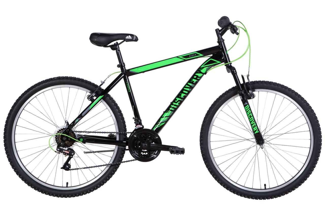 "Велосипед 26"" Discovery RIDER 2021 (чорно-зелений )"