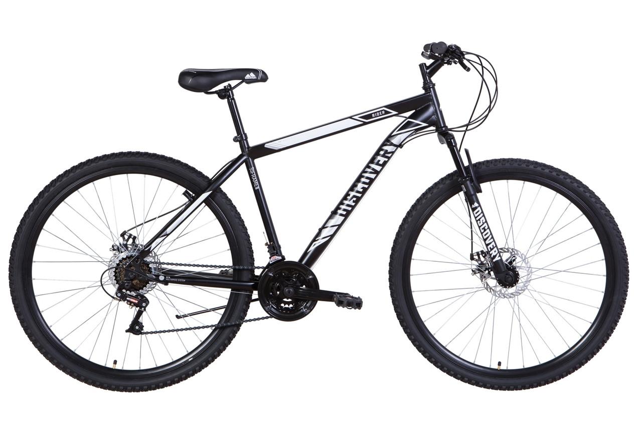 """Велосипед 29"""" Discovery RIDER DD 2021 (черно-белый (м))"""