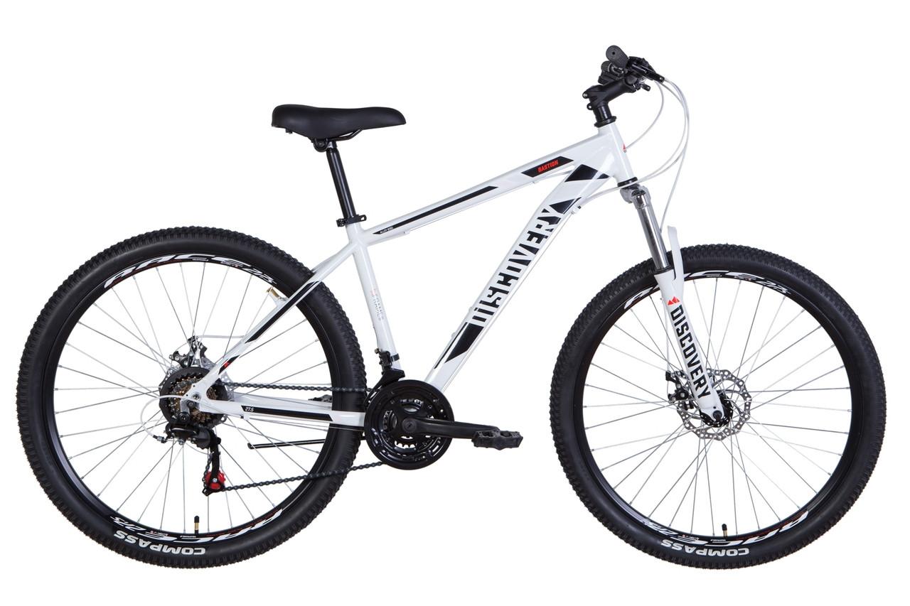 """Велосипед 27.5"""" Discovery BASTION 2021 (бело-черный)"""