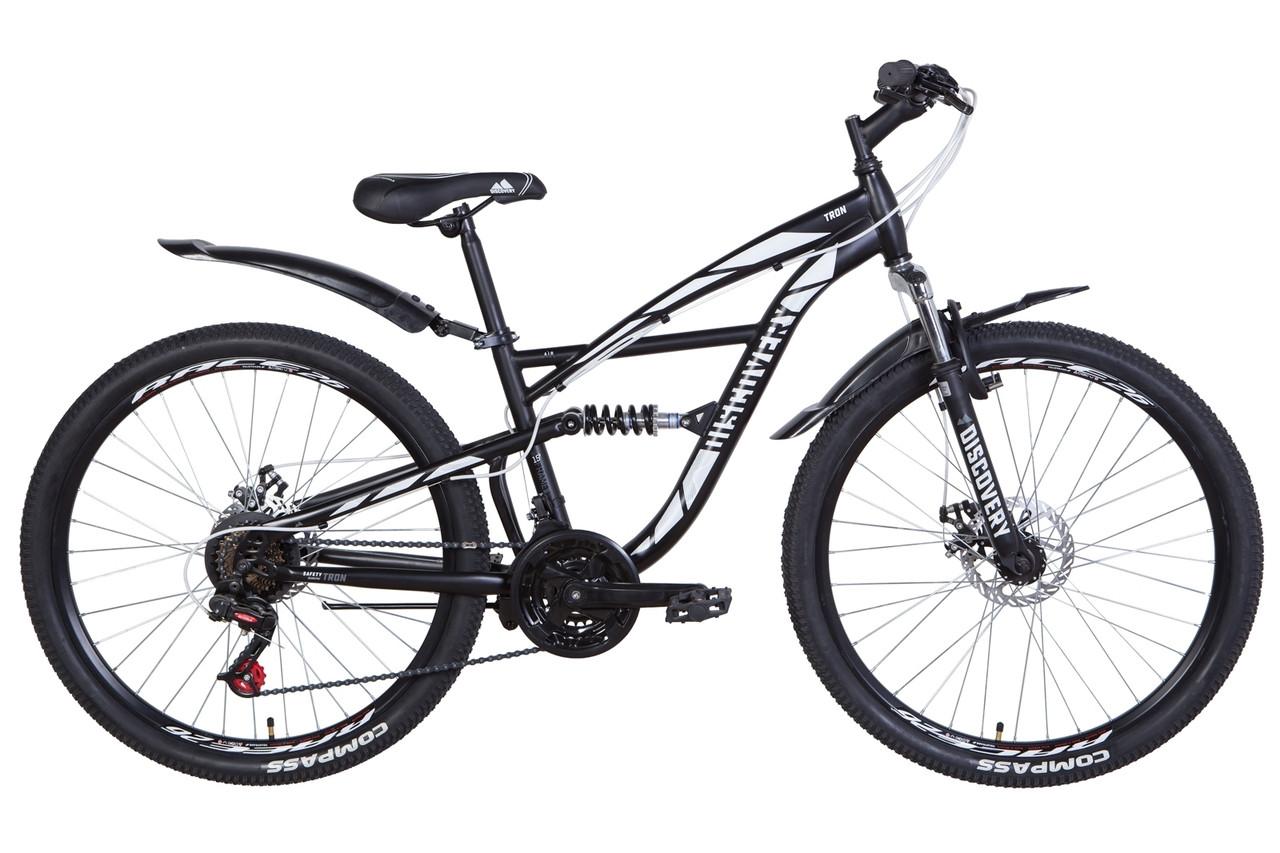 """Велосипед 26"""" Discovery TRON 2021 (біло-чорний з оранжевим )"""