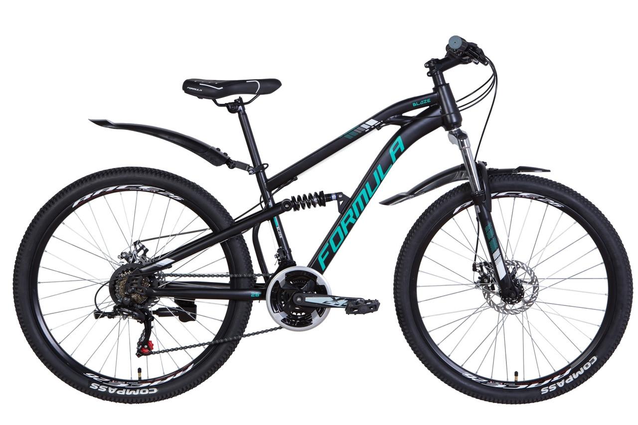 """Велосипед 26"""" Formula BLAZE 2021 (черно-бирюзовый (м))"""