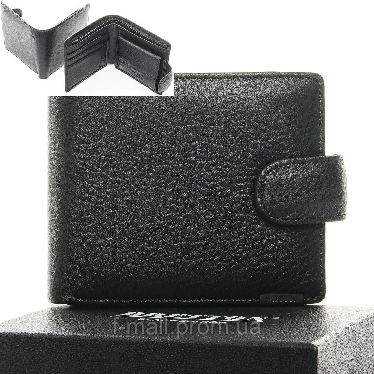 Кошелек мужской кожаный BRETTON черный (05-113)