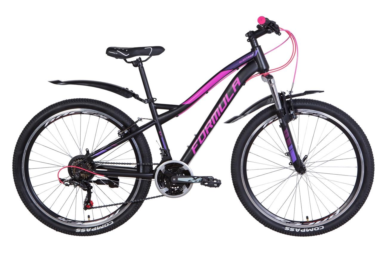 """Велосипед 26"""" Formula ELECTRA 2021 (чорно-малиновий з фіолетовим (м))"""