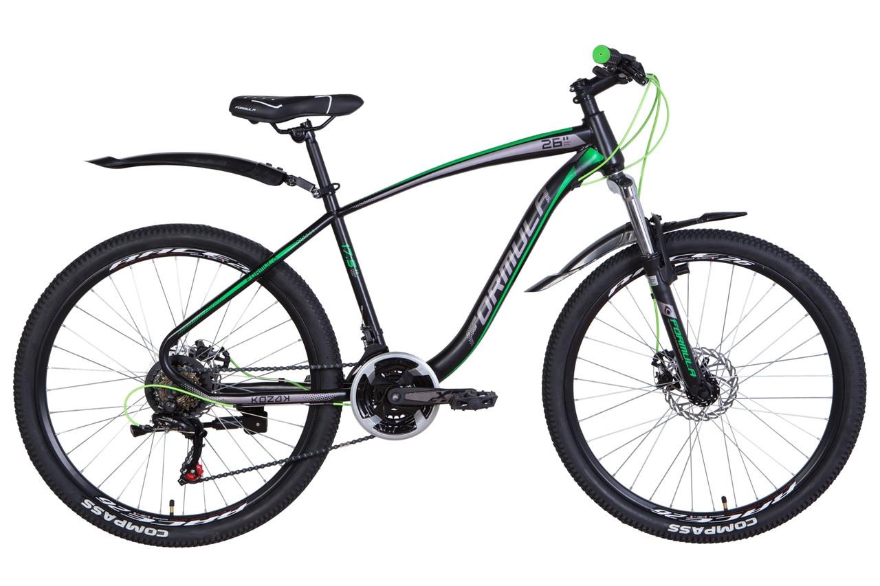 """Велосипед 26"""" Formula KOZAK 2021 (чорно-сірий з білим (м))"""