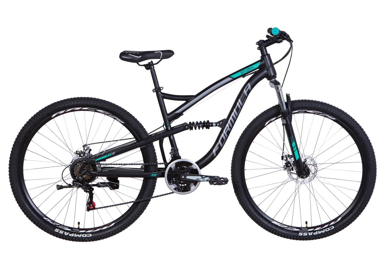 """Велосипед 29"""" Formula SPARK 2021 (черно-серый)"""
