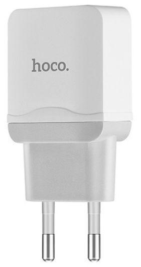 Мережевий зарядний пристрій Hoco C33A Little Superior 2USB White