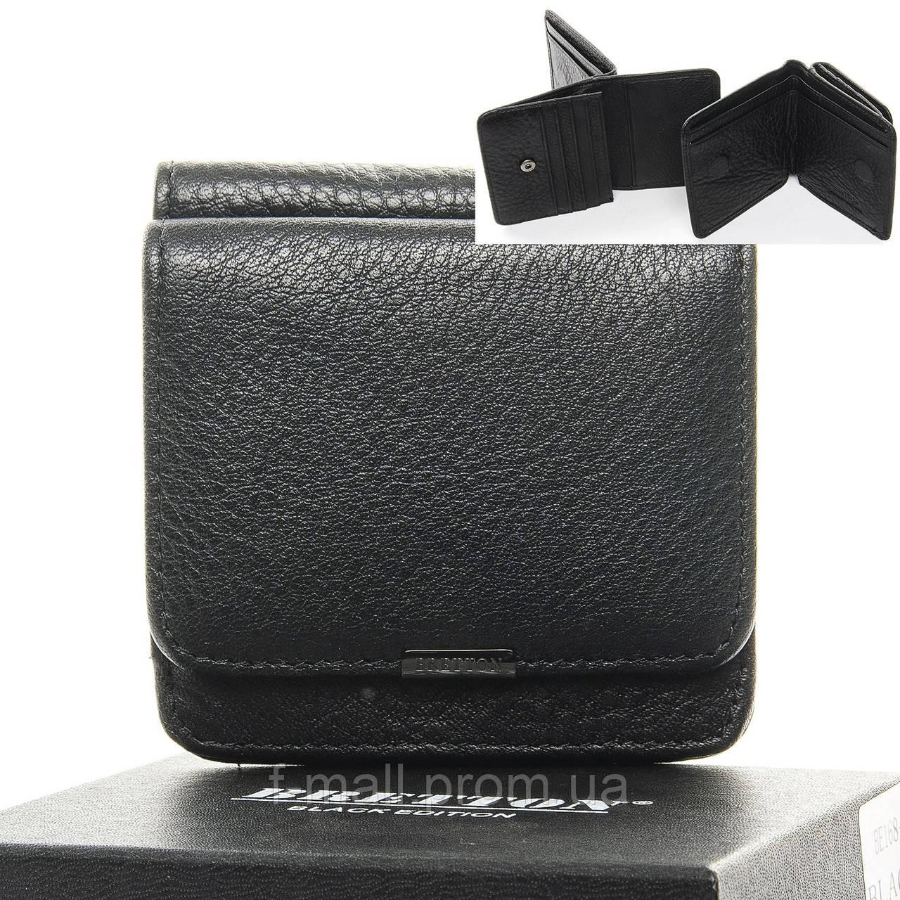 Кошелек мужской кожаный BRETTON черный (05-114)