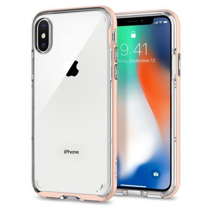 Чехол Spigen Neo Hybrid Crystal Apple iPhone X Blush Gold (057CS22173)
