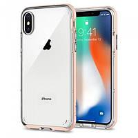 Чехол Spigen Neo Hybrid Crystal Apple iPhone X Blush Gold (057CS22173), фото 1