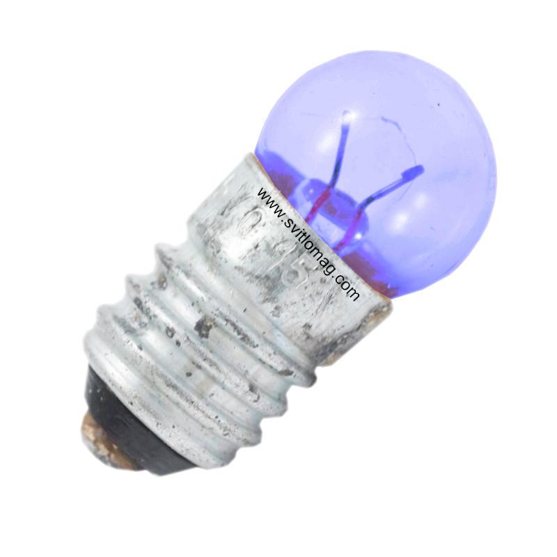 Лампа накаливания миниатюрная синяя МН 2,5-0,15 Е10/13 МН 2,5-0,15 Е10/13