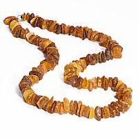 Бусы из шлифованных самородков янтаря, 55 см., 957БСЯ, фото 1