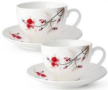 Чайный сервиз Космея 280мл на 6 персон фарфоровый psgST-1753-6, КОД: 2369595