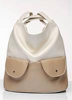 Женская сумка-рюкзакSambag Asti молочный, фото 1