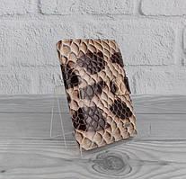 Обложка для прав, паспорта кожаная  лаковая коричневая Desisan 102-422 Турция
