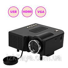 Проектор портативний Led Projector UC28+ (мультимедійний проектор для будинку і офісу)