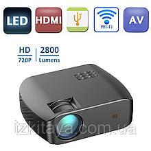 Проектор мультимедійний F10 WIFI (портативний лед проектор для дому та офісу з вай фай)