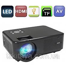 Проектор портативний Everycom M8 HD (мультимедійний лед міні проектор для будинку і офісу)