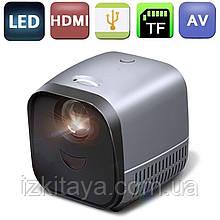 Проектор дитячий портативний AUN L1 HVGA (мультимедійний лед міні проектор для розваг)