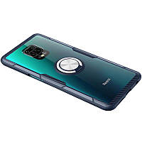 Чохол Deen CrystalRing Xiaomi Redmi Note 9s, Note 9 Pro, Note 9 Pro Max Clear/Dark Blue