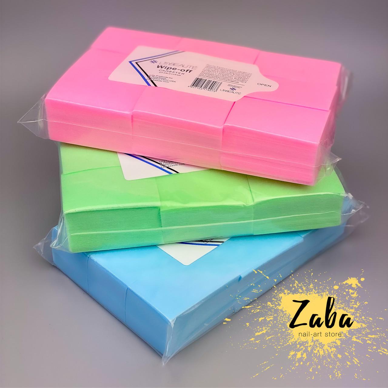 Безворсовые салфетки цветные плотные, упаковка