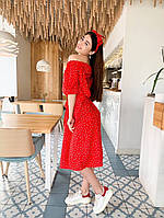 Женское легкое платье платье широкого кроя, с боковыми карманами. В комплекте пояс и повязка