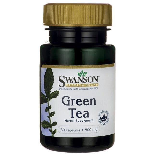 Растительный экстракт Свансон США Зеленый Чай Green Tea Swanson USA 500 мг 30 капсул