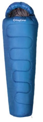 Прочный спальный мешок KingCamp Treck 300(KS3131) / -3°C, R Blue 55553 синий