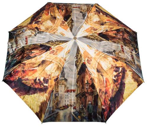 Компактный автоматический женский зонт ZEST (ЗЕСТ) Z53964-2 Антиветер!