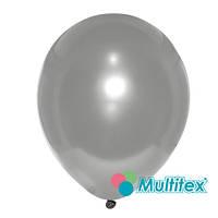 """Латексный шар Multitex Серебряный 5"""" 12,5 см, 10 шт"""