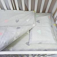 Комплект постельного белья в кроватку для новорожденных. Детское постельное белье.