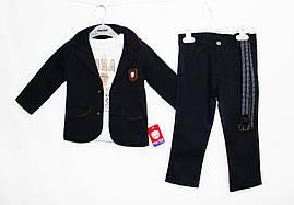 Костюм дитячий дуже стильний трійка для хлопчика. Baby small 1802