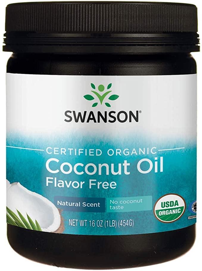 Сертифицированное кокосовое масло Свансон без ароматизаторов 454 г США Swanson Certified Organic USA