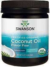 Сертифицированное кокосовое масло Свансон без органических ароматизаторов 454 г США Swanson Certified Organic