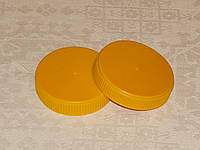 Крышка твист-офф 66 мм жёлтый пластик, фото 1