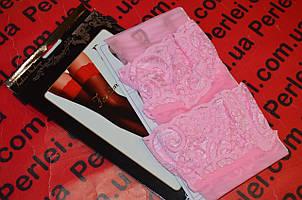 Розовые   чулки под пояс