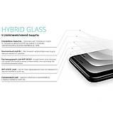 Захисне скло HYBRID для iPhone 7, 8, SE 2020 біле, фото 3
