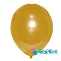 """Латексный шар Multitex Золотой 5"""" 12,5 см, 10 шт"""