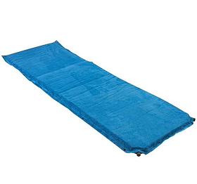 Коврик надувной голубой велюр 188 64 8 см