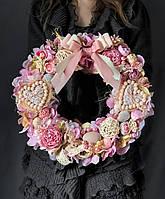 Пасхальный венок на стол или двери «Розовые мечты», фото 1
