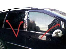 Молдинг дверних стійок (8 шт, нерж) Volkswagen Sharan 1995-2010 рр.
