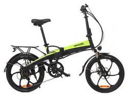 """Электрический велосипед RUFFER 20"""" (черно-зеленый)"""
