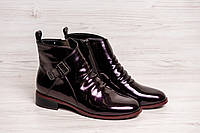 Женские ботинки 8256 molka Р.36.37.38.39.40.ботинки лаковые бордо