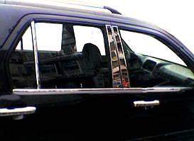 Honda CRV 2001-2006 рр. Нижні молдинги стекол (4 шт., нерж)
