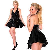Сексуальное латексное платье мини без рукавов M-4XL