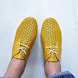 Жовті шкіряні жіночі кеди, фото 6